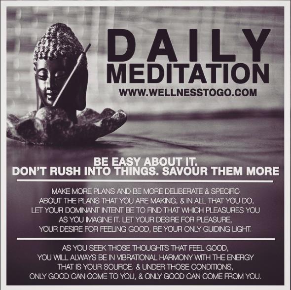 A Daily Meditation